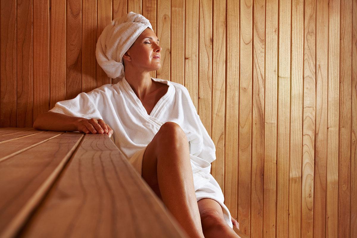 quanto peso di acqua si perde in una sauna